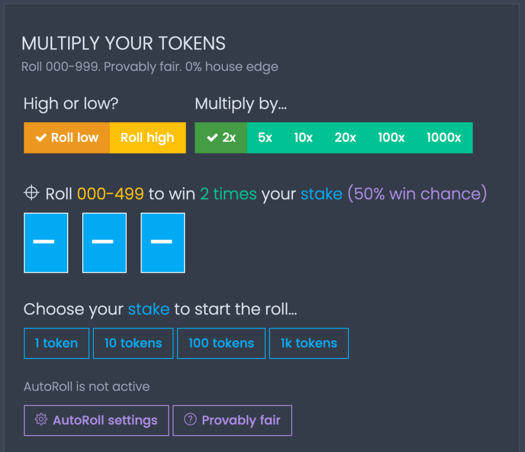 Coinpot.co multipler game page