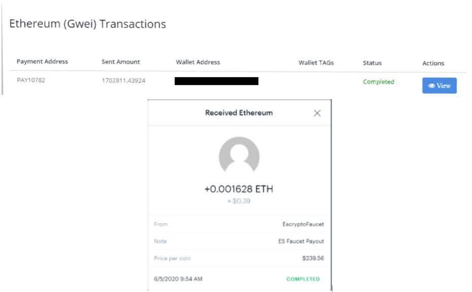 Es Faucet Payment Proof June 2020