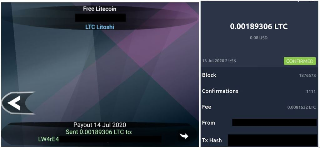 Free Litecoin Android App Payment Proof 7-13-2020