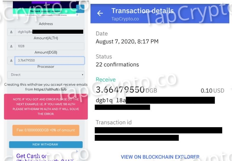 Althub Digibye Payment Proof 8-7-2020
