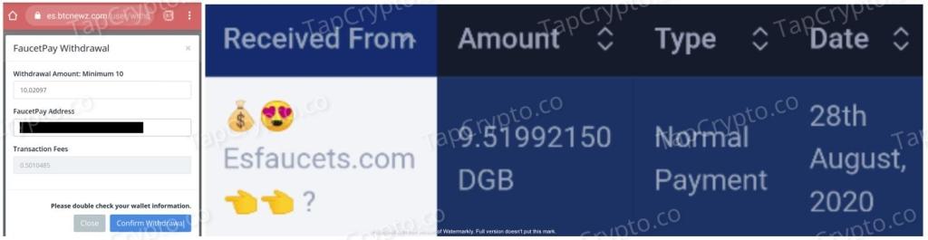 Es Faucet Payment Proof 8-28-2020