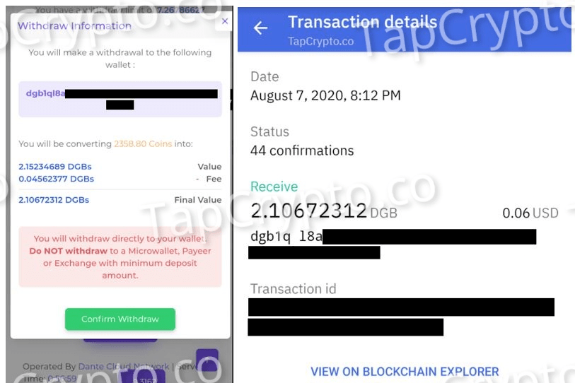 FaucetCrypto Digibyte Payment proof 8-7-2020