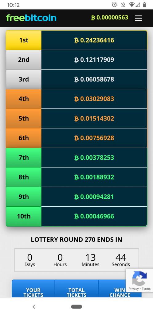 FreeBitco.in Lottery