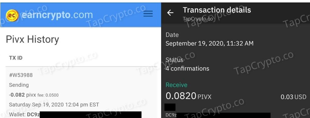 EarnCrypto Payment Proof 9-19-2020