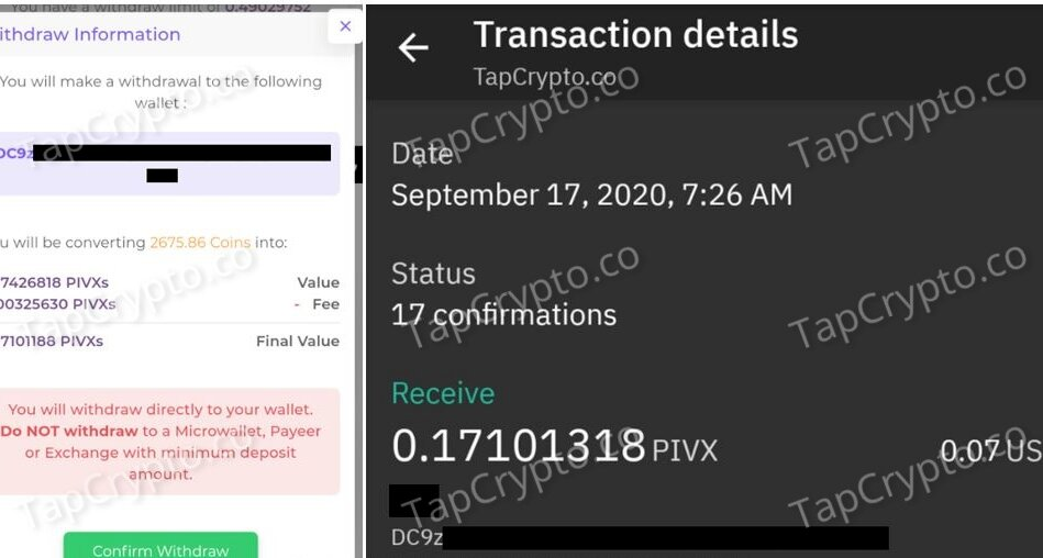 FaucetCrypto PIVX Payment Proof 9-14-2020
