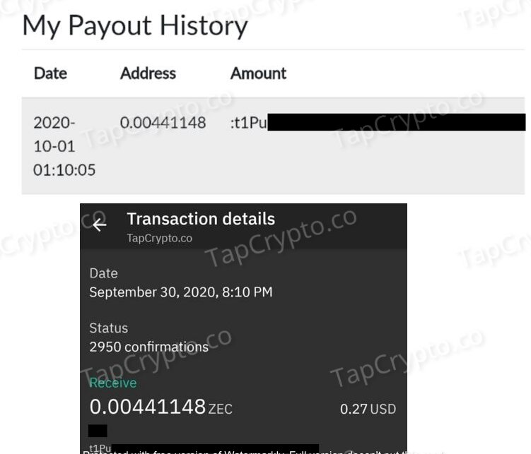 GlobalHive Zcash Payment Proof 09-30-2020
