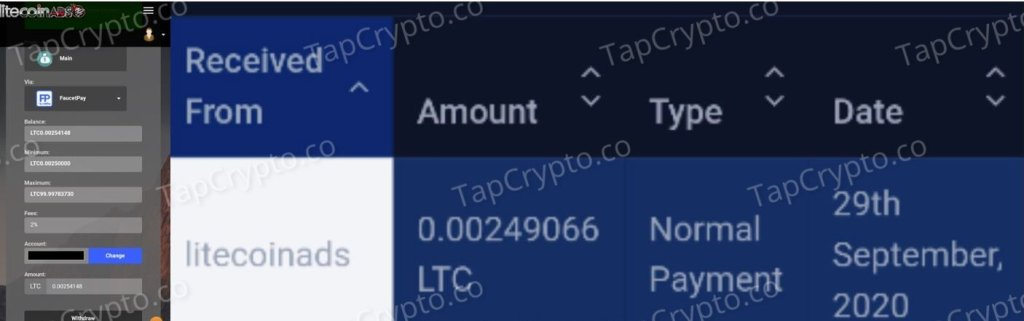 LitecoinAds Payment Proof 2020-07-21