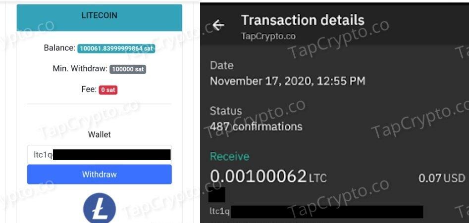 CoinPanda.xyz Litecoin Payment Proof 11-17-2020