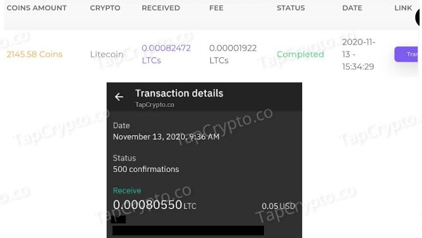 FaucetCrypto Litecoin Payment Proof 11-13-2020