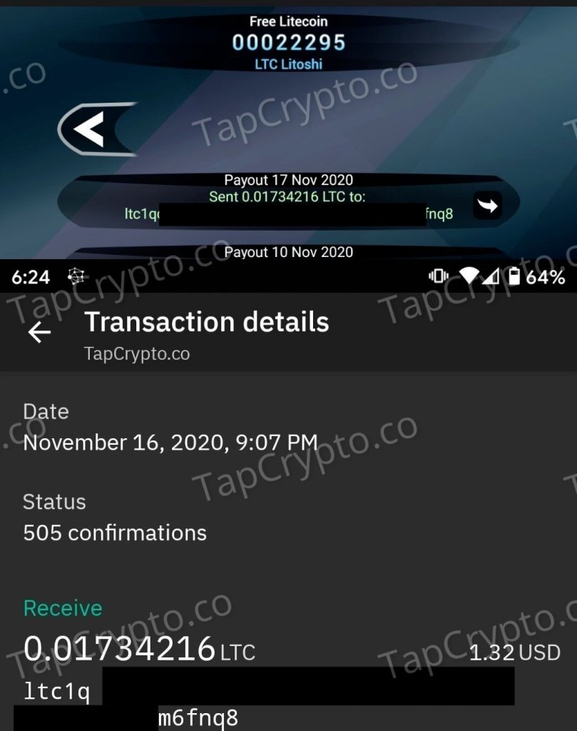 Free Litecoin Android App Payment Proof 11-17-2020