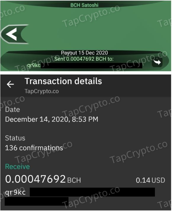 Free Bitcoin Cash Android App Payment Proof 12-14-2020