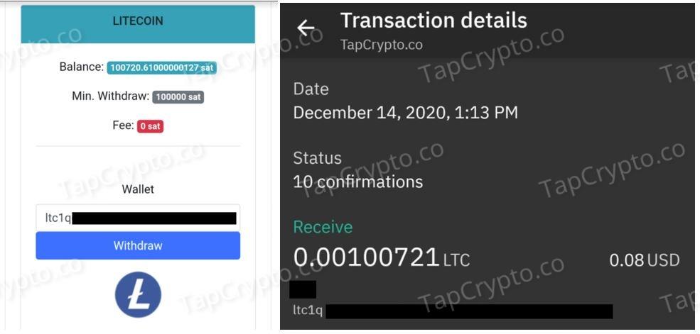 CoinPanda Litecoin Payment Proof 12-14-2020