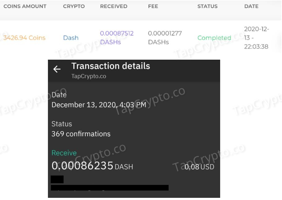 FaucetCrypto Dash Payment Proof 12-13-2020
