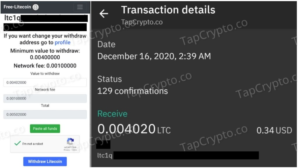 Free-Litecoin Payment Proof 12-16-2020