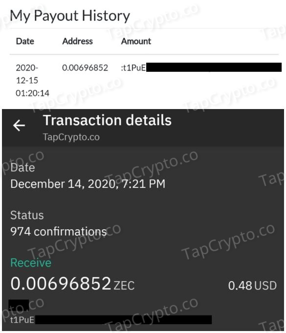 GlobalHive Zcash Payment Proof 12-14-2020