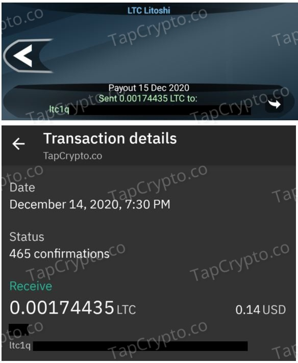 FreeLitecoin Android App Payment Proof 12-14-2020
