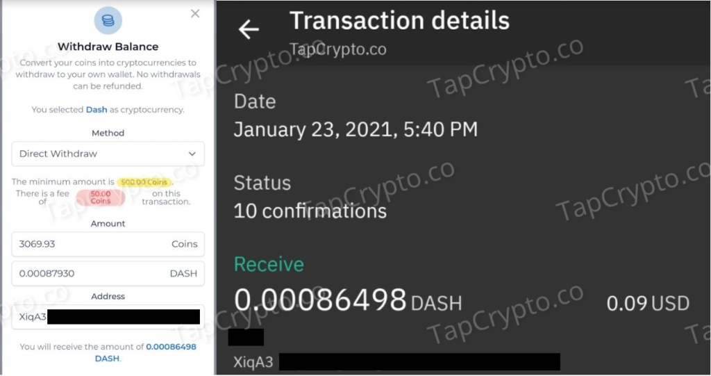 FaucetCrypto Dash Payment Proof 1-23-2020