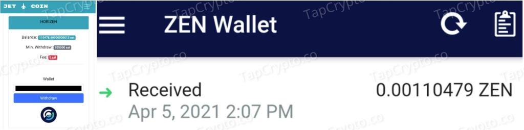 CoinPanda.xyz Horizen Payment Proof 4-5-2021