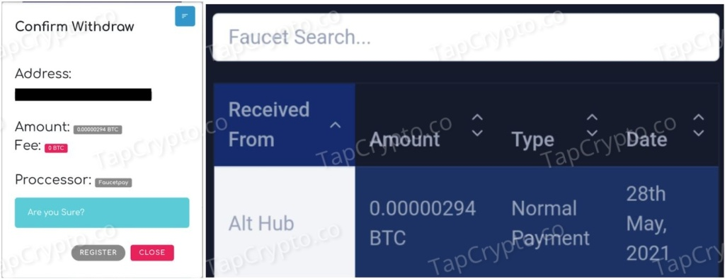 Althub Bitcoin Payment Proof 5-28-2021