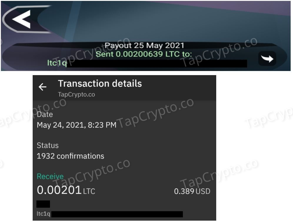 Free Litecoin Android App Payment Proof 5-25-2021