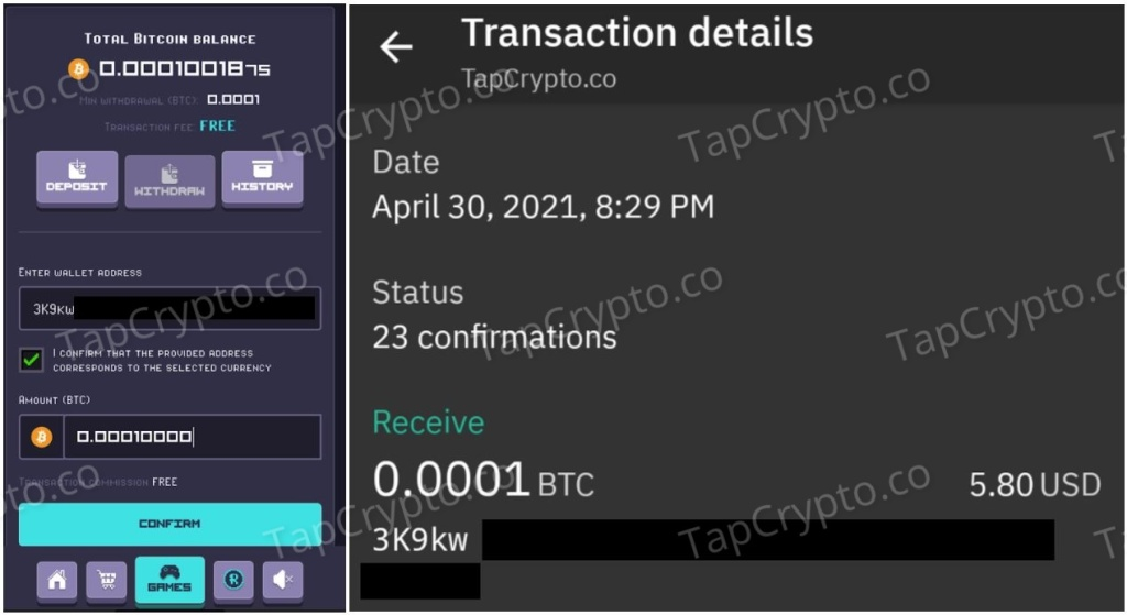 RollerCoin Faucet Bitcoin Payment Proof 4-30-2021