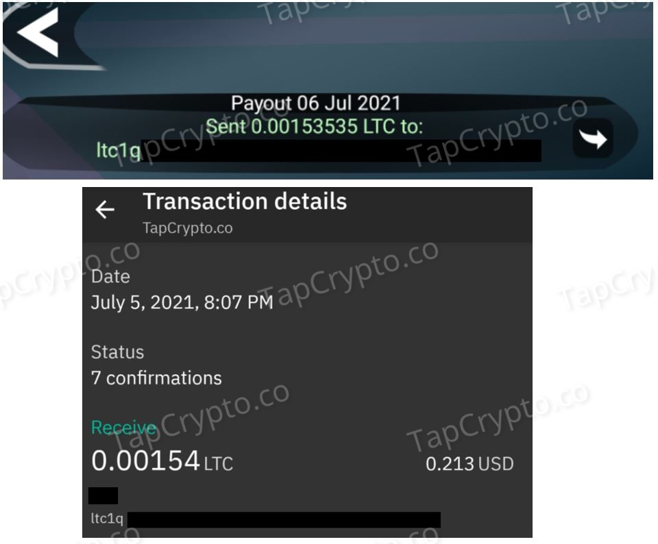 Free Litecoin Android App Payment Proof 7-5-2021